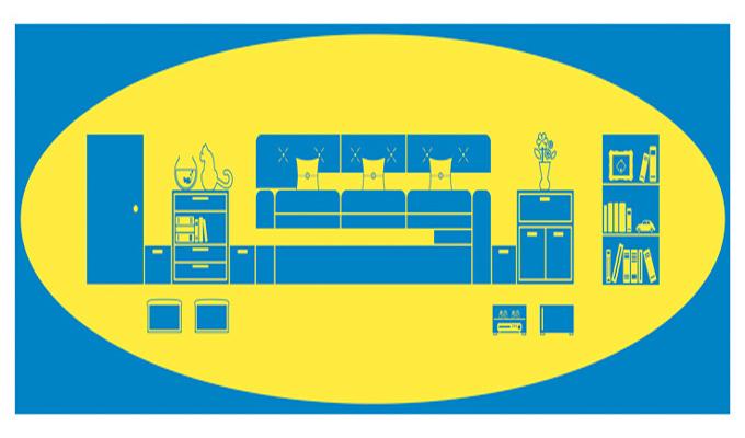 ikea un nouveau logo meubl sur mesure tapes. Black Bedroom Furniture Sets. Home Design Ideas