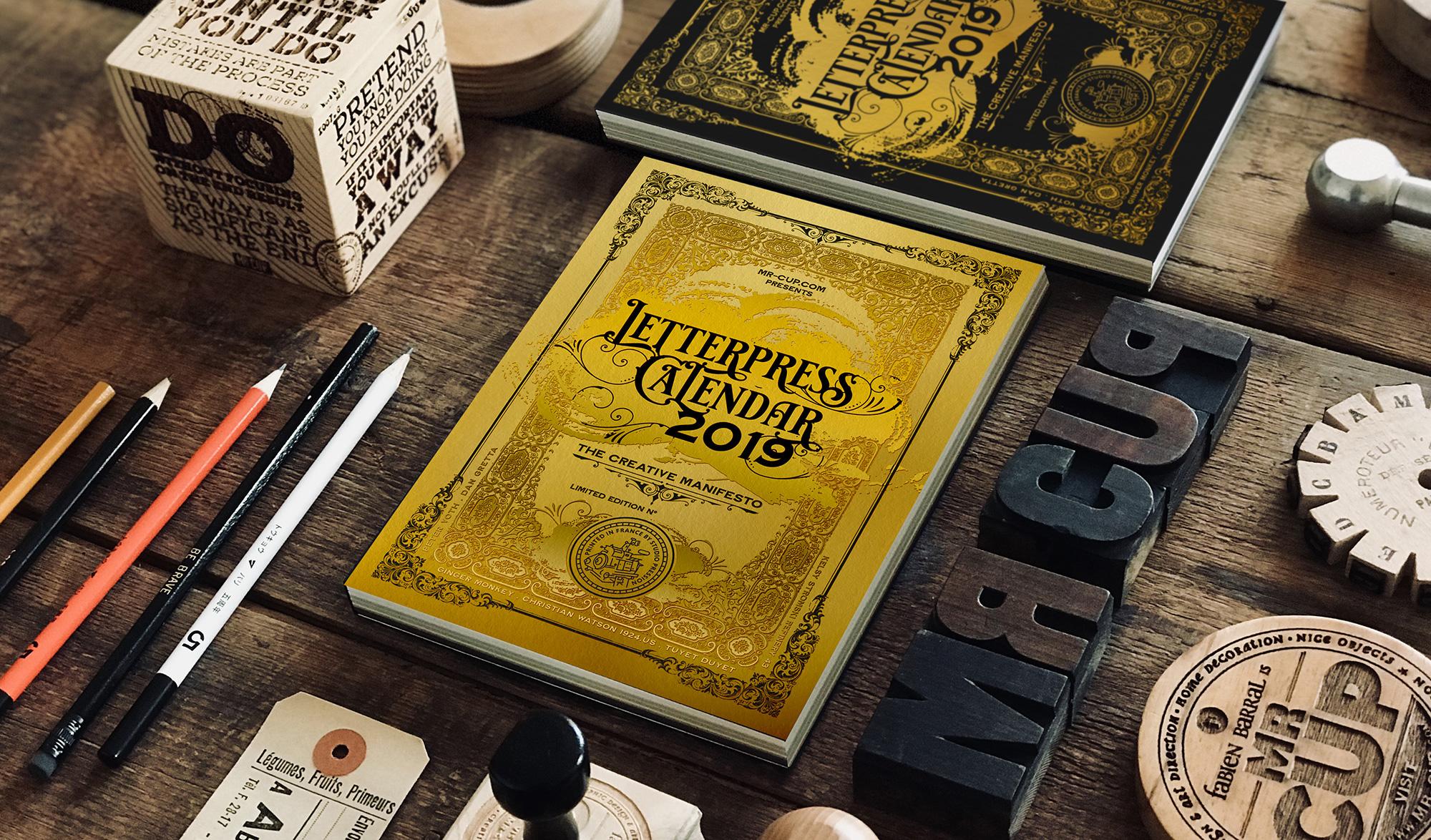 Letterpress calendar Adobe