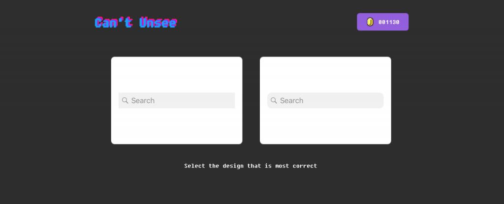 Capture d'écran de l'application Can't Unsee