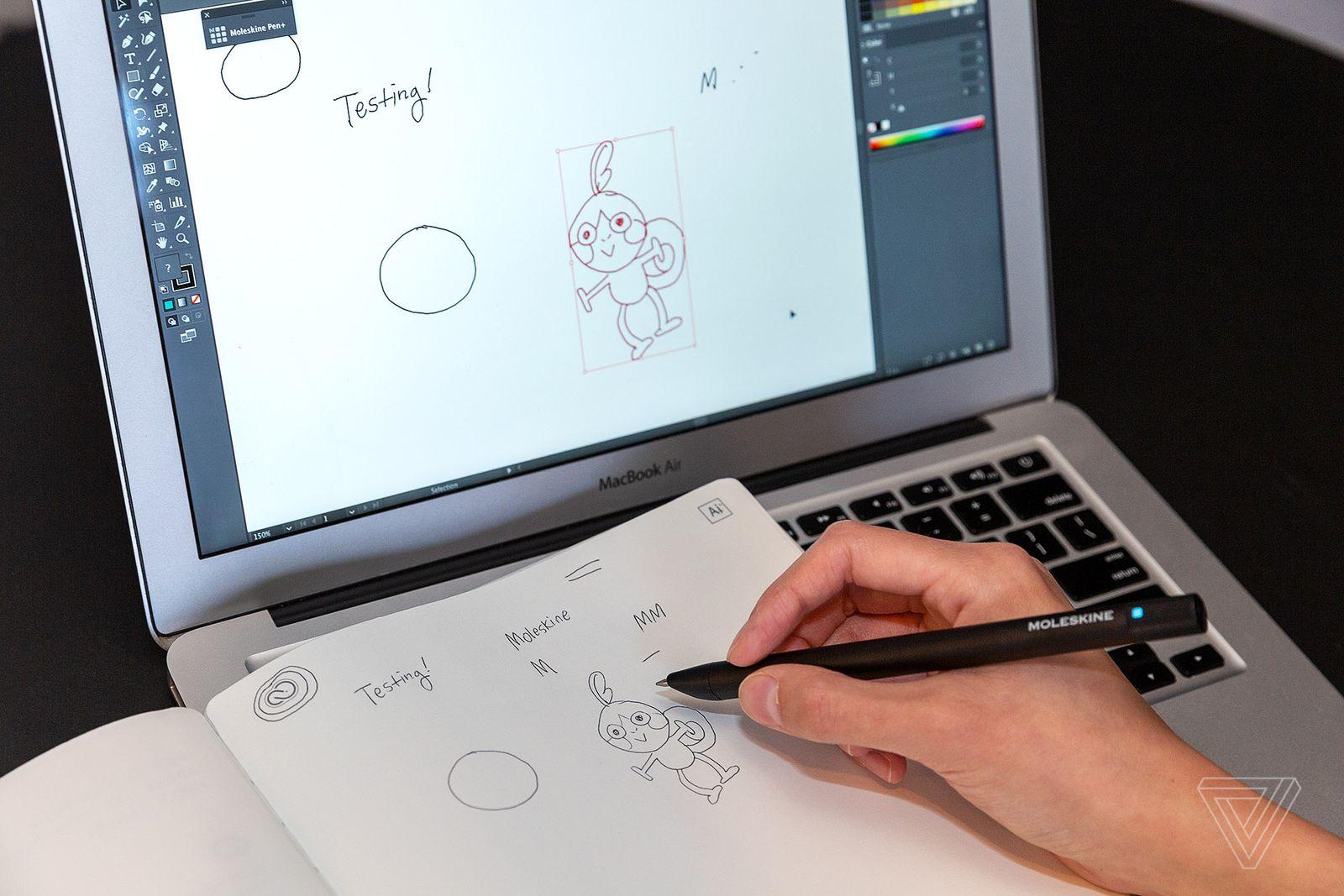 Moleskine et Adobe illustrator Carnet de croquis