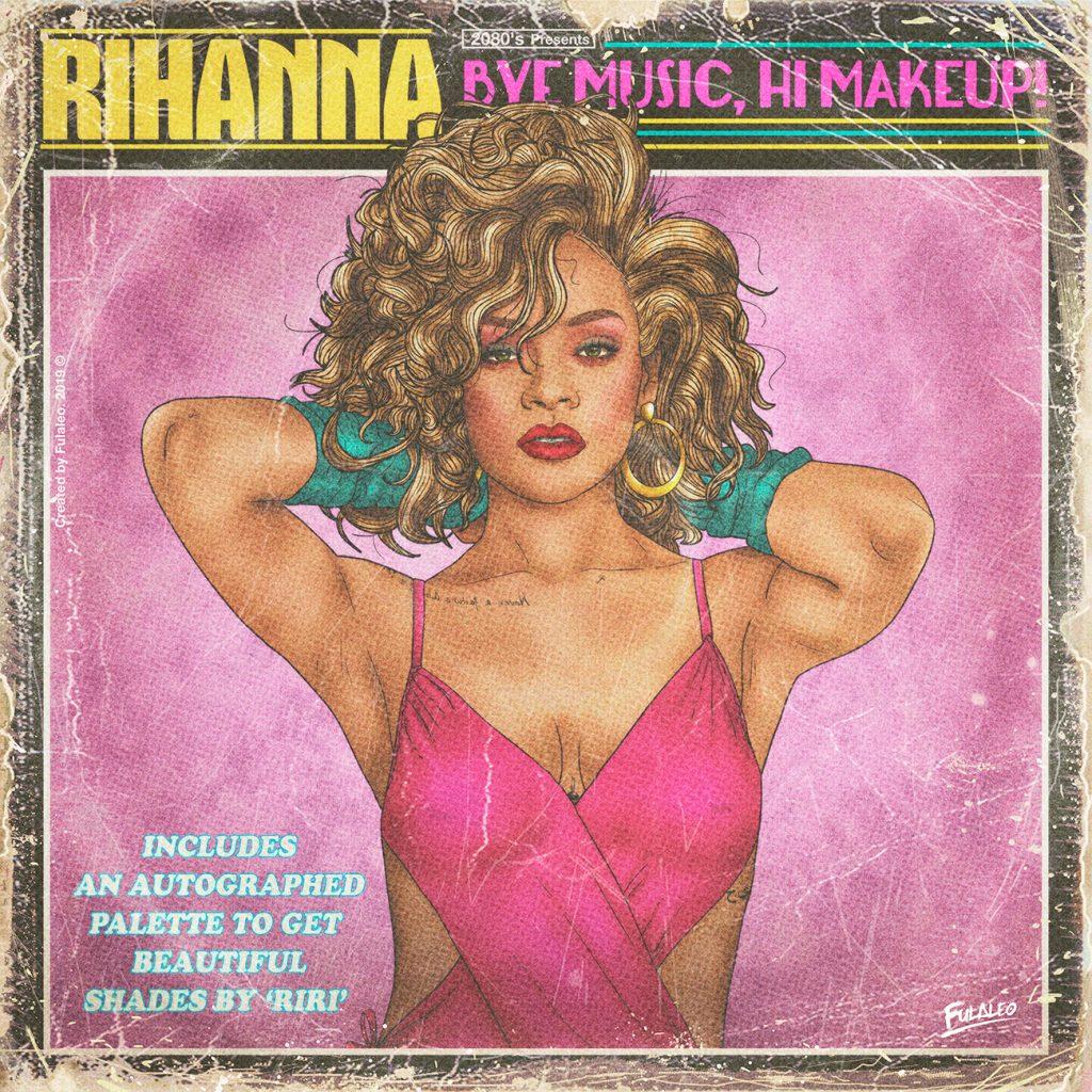 Rihanna en mode années 1980