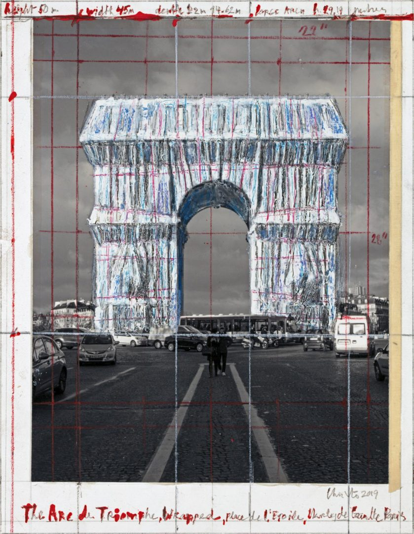 LArc De Triomphe Bientot Emballe Par Christo