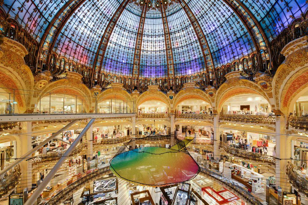 Galerie Lafayette Paris Haussmann étapes: