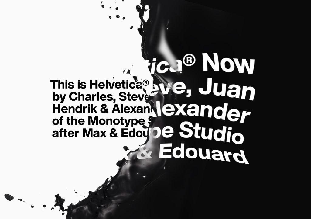 Helvetica Now étapes