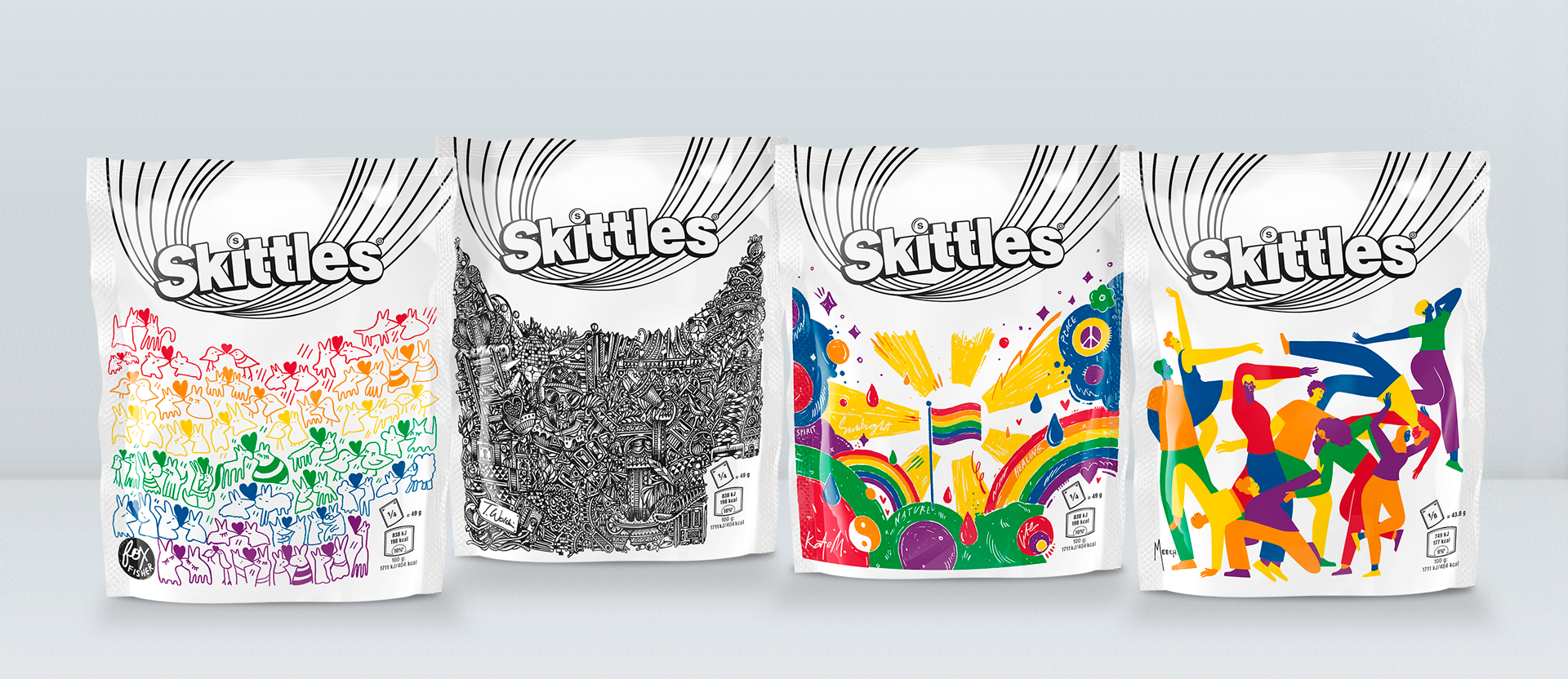 Skittles edition limitée packaging Gay Pride 2019
