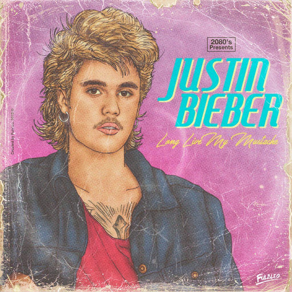 Justien Bieber en mode années 1980