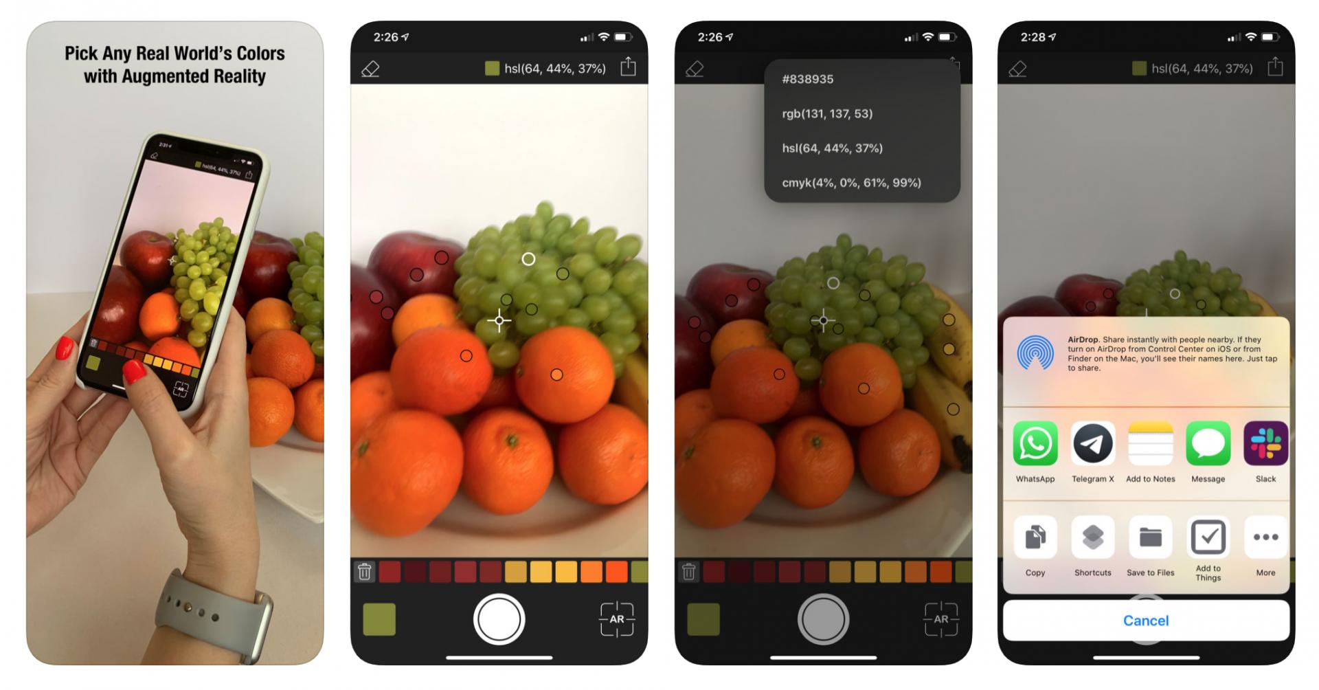 Capturer les couleurs app Coloree