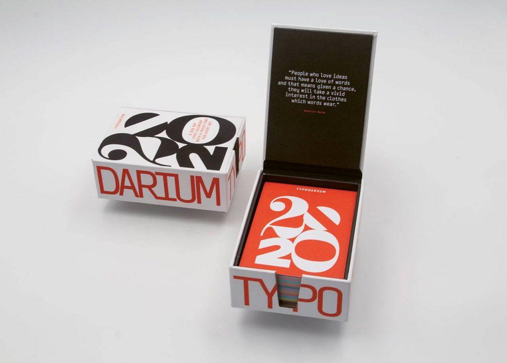Typodarium 2020 calendrier typographique