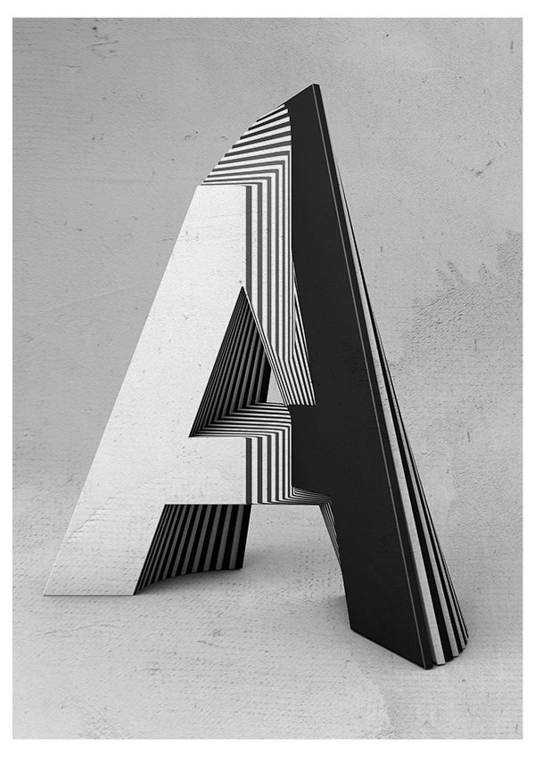 Txaber typographie layer lettre A