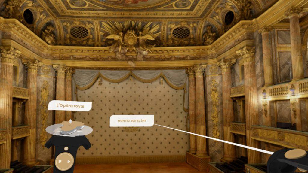 Google visite Versailles en réalité virtuelle l'oPéra Royal