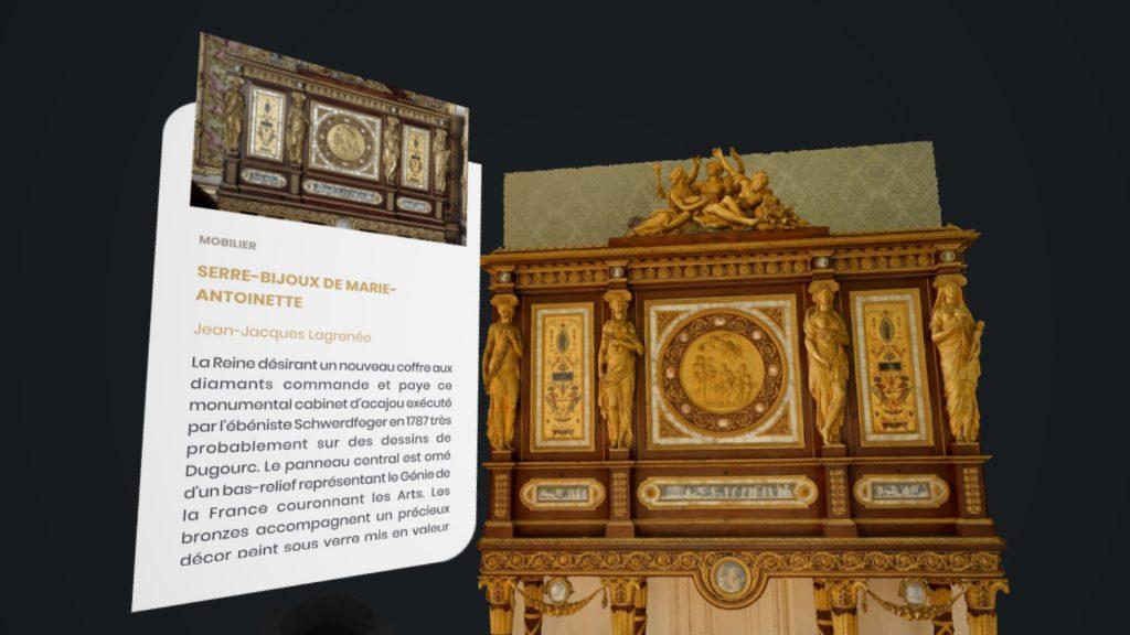 Google visite Versailles en réalité virtuelle détails des œuvres
