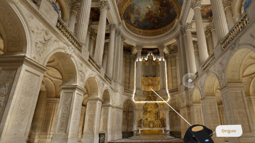 Google visite Versailles en réalité virtuelle - la chapelle