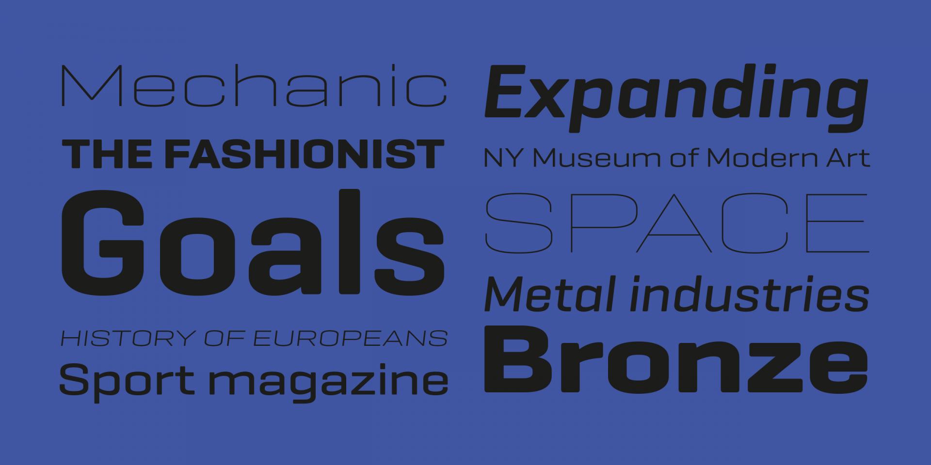geogrotesque typographie