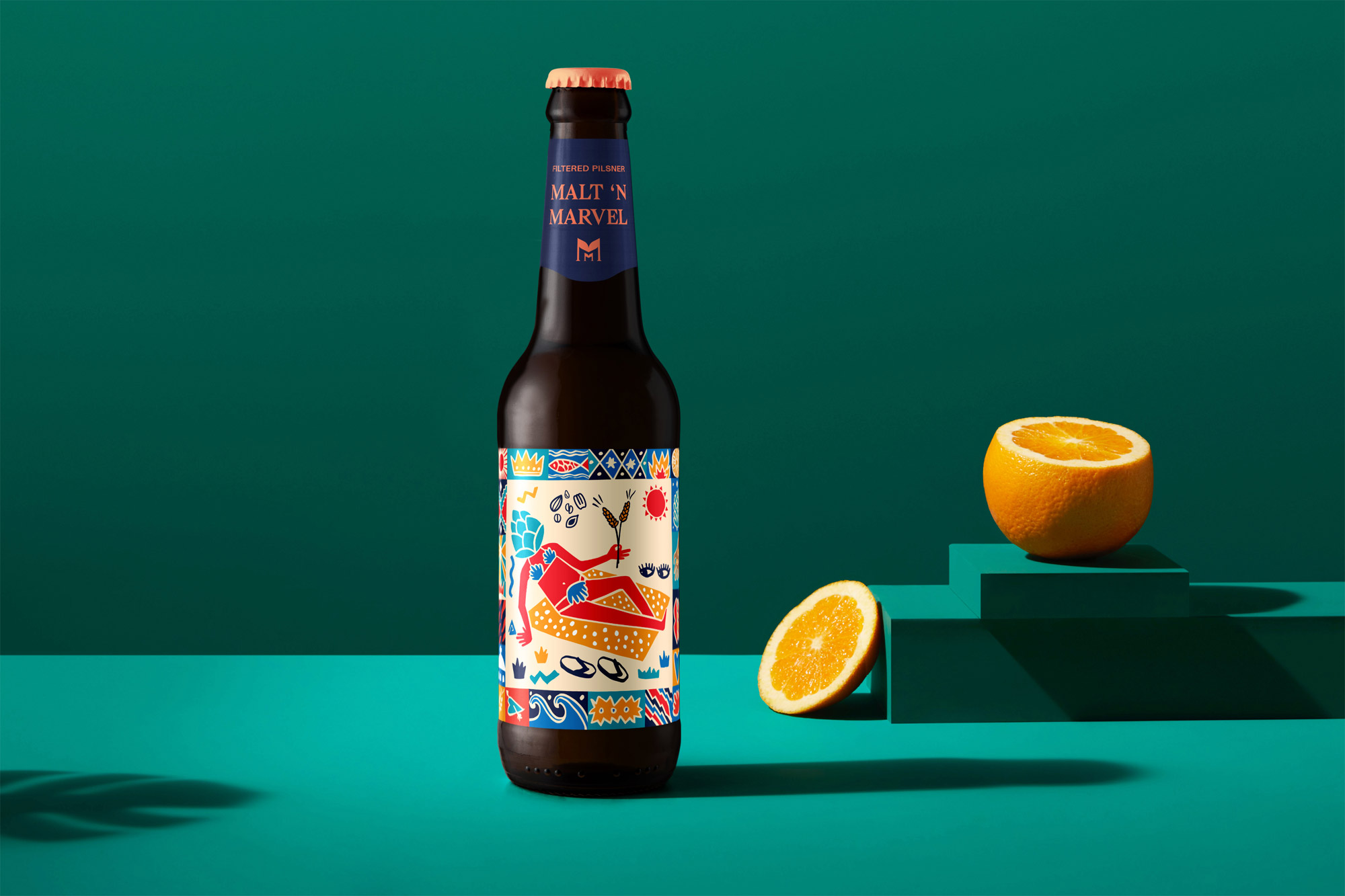 Une bière à Santorin avec AG Design Agency - étapes