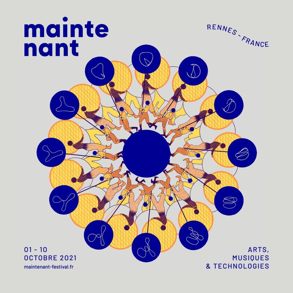 Nouvelle identité visuelle du Maintenant Festival créée par Icinori (Mayumi Otero & Raphaël Urwiller).